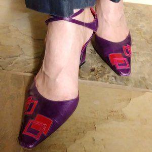 Vintage Fendi Slingback Purple Heel